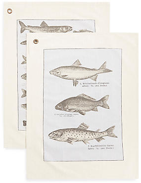 Chef Set of 2 Fish Tea Towels