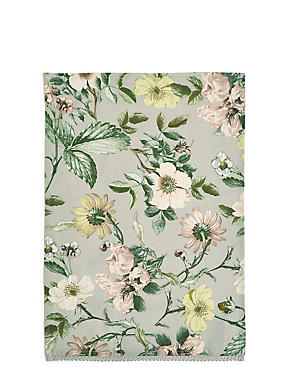 Dovecote Floral Print Single Tea Towel