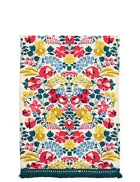 Floral Print Single Tea Towel