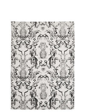 Pineapple Damask Tea Towel