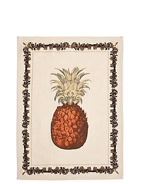 Pineapple Print Single Tea Towel