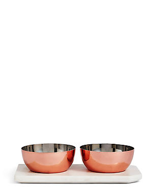 Chef Copper Marble Pinch Pots