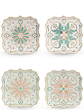 4 Pack Hollywood Cake Plate Set
