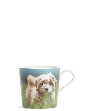 Fluffy Dog Digital Print Mug