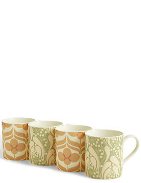 Set of 4 Marigold Mugs