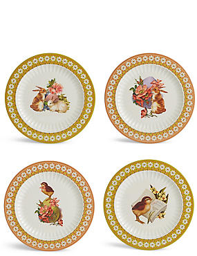 Set of 4 Easter Dinner Plates