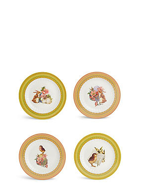 Set of 4 Easter Side Plates