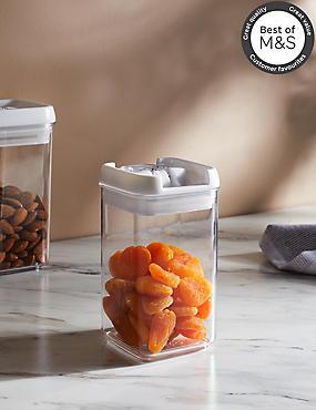 Small Rectangular Flip Lock-Tight Storage Jar, , catlanding