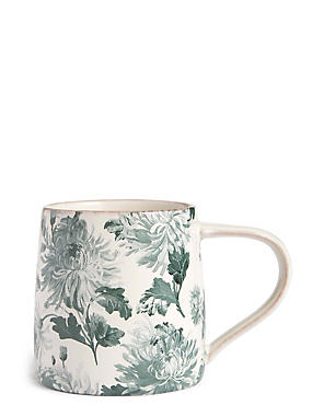 Antique Floral Print Mug