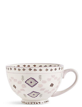 Winter Retreat Pad Print Soft Pink Mug