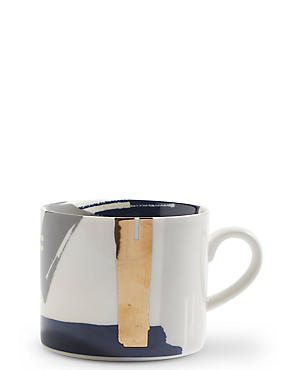 Manhattan Abstract Blue Mug