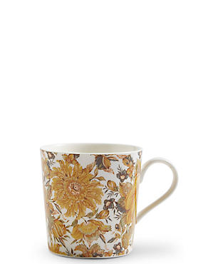 Ardingly Floral Yellow Mug