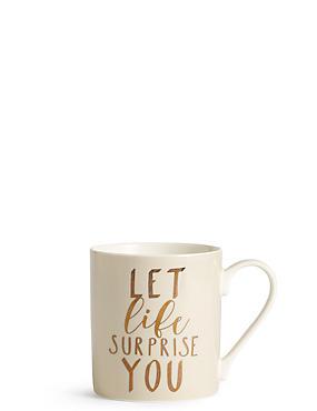 Let Life Surprise You Mug, , catlanding