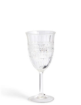 Picnic Cut Glass Effect Wine Glass