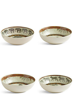 Set of 4 Safari Cereal Bowl