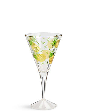 Pineapple Embossed Picnic Wine Glass