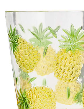 Pineapple Embossed Picnic Tumbler