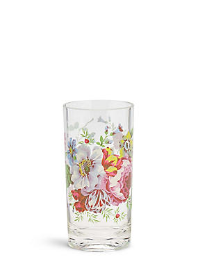 Floral Print Picnic Hi Ball Glass