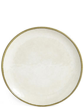 Crackle Effect Melamine Dinner Plate