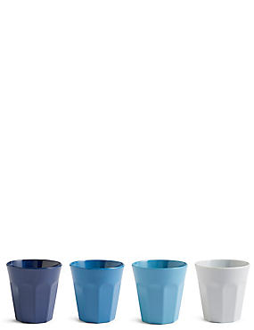 Set of 4 Melamine Beakers