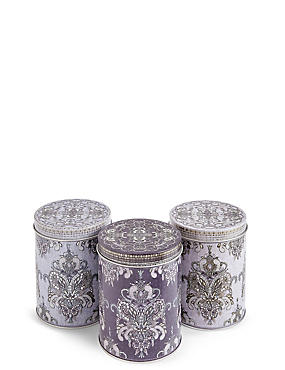 Set of 3 Winter Retreat Tea, Coffee & Sugar Tins