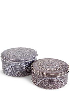 Set of 2 Retreat Cake Tins, , catlanding