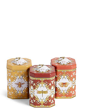 Set of 3 Ardingly Tea Coffee & Sugar Tins