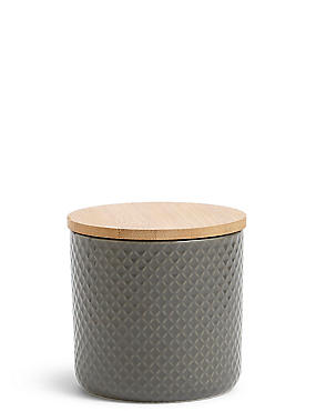 Textured Storage Jar Small