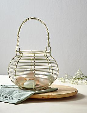 Wire Egg Basket, , catlanding