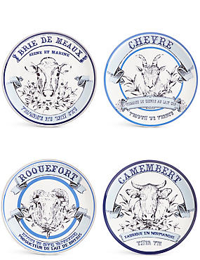 Set of 4 Cheese Plates, , catlanding