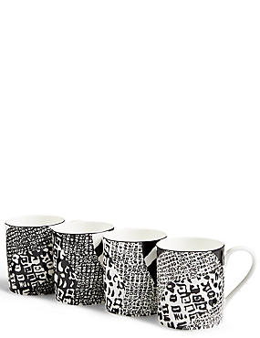 4 Pack Sue Timney Camouflage Mugs