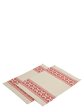 Set of 2 Nordic Stitch Placemat