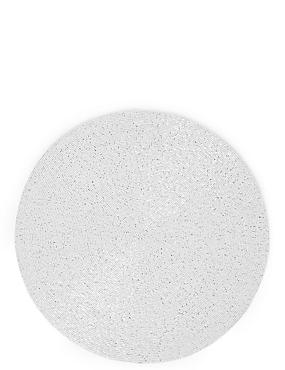Beaded Placemat, WHITE, catlanding