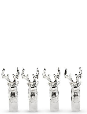 Set of 4 Stag Napkin Ring