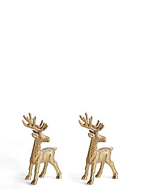 2 Pack Stag Place Card Holder