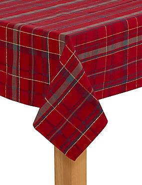 Tartan Tablecloth, RED MIX, catlanding