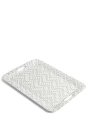 Chelsea Melamine Tray, LIGHT GREY MIX, catlanding