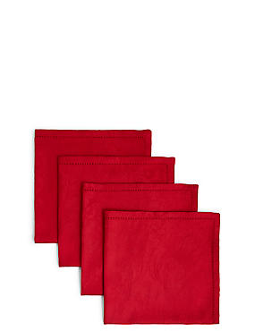 Set of 4 Damask Napkins