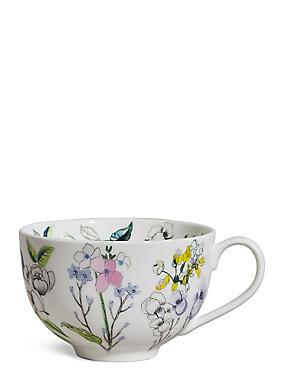 Spring Bloom Cappuccino Mug, , catlanding