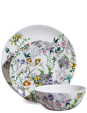 12 Piece Spring Blooms Dinner Set