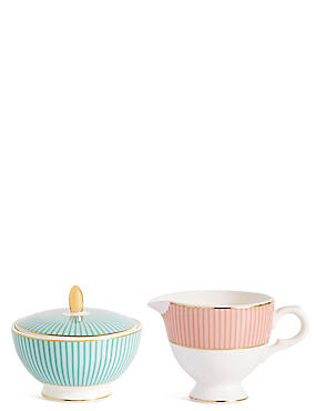 Charleston Creamer & Sugar Pot