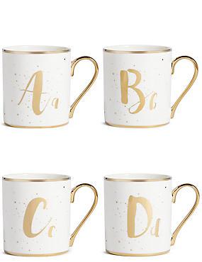 Sparkle A - Z Mug, GOLD MIX, catlanding