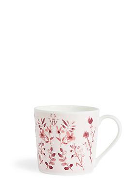 Pink Floral Mug, , catlanding