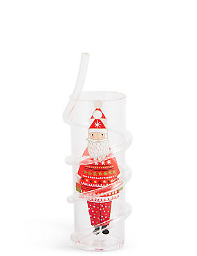 Christmas Cup with Straw, , catlanding
