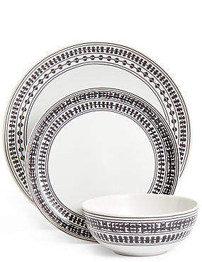 12 Piece Savanna Dinner Set