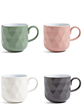 Tribeca Set of 4 Textured Mugs