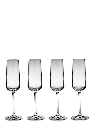 4 Nova Champagne Glasses Home