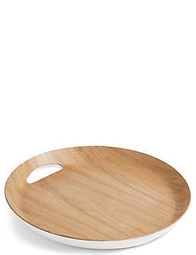 Round Tray, WHITE MIX, catlanding
