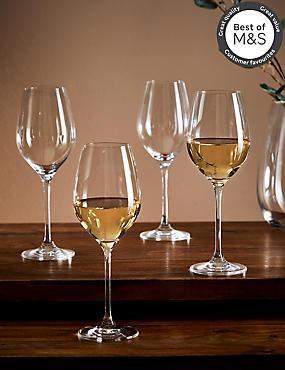 4 Maxim White Wine Glasses, , catlanding