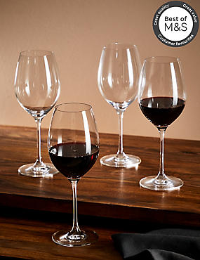 4 Maxim Red Wine Glasses